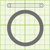 Seal, Viton, square gasket, 1 each